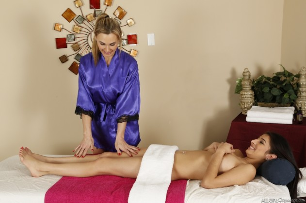 Megan Salinas, Tanya Tate   All Girl Massage
