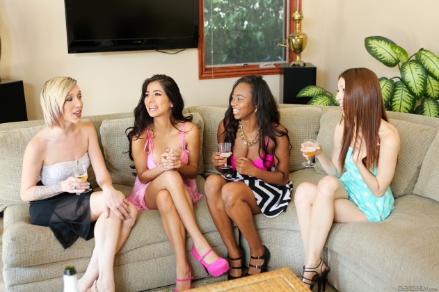 Maia Davis, Melody Jordan, Jenna Justine, Megan Salinas, Mya Lushes   The Seduction Of Megan Salinas